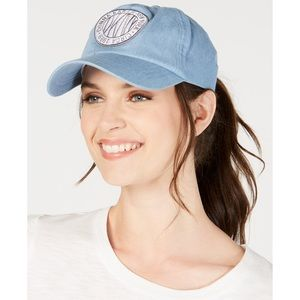 DKNY Embroidered Denim Hat